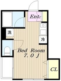 メナー百合丘3階Fの間取り画像