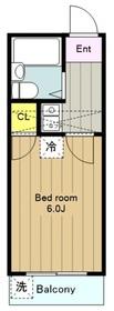 鶴間第26レジデンス1階Fの間取り画像