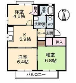 パームヒル C2階Fの間取り画像