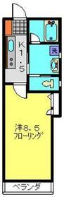 グレイスコート2階Fの間取り画像