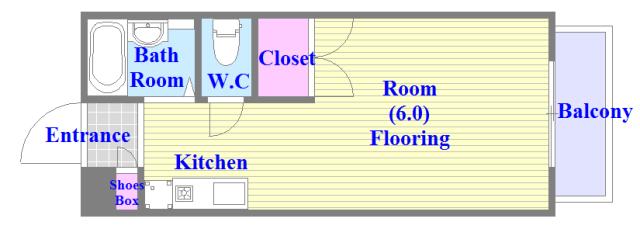 エステートピアナカタB棟 人気の全室フローリング。収納スペースも充実しています。