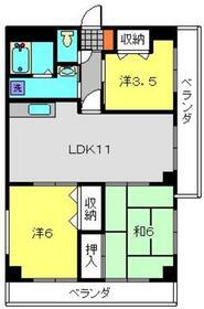 上大岡駅 徒歩12分3階Fの間取り画像