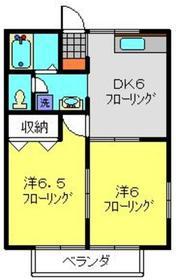 パルK&Y2階Fの間取り画像