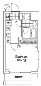 リクレイシア西横浜4階Fの間取り画像