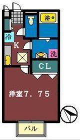 I.S.VILLA2階Fの間取り画像