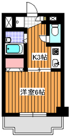 下赤塚駅 徒歩9分1階Fの間取り画像