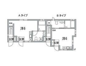若宮ハウス1階Fの間取り画像