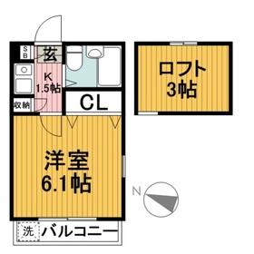 座間駅 徒歩5分2階Fの間取り画像