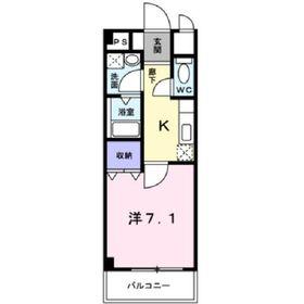 大和駅 徒歩5分3階Fの間取り画像