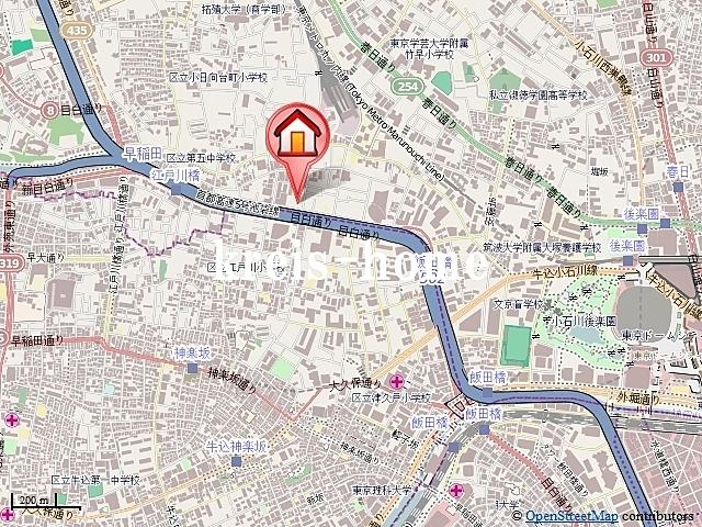 菱和パレス飯田橋案内図