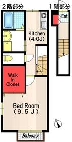 メゾン・ボヌール2階Fの間取り画像