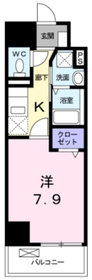 一ノ宮2丁目店舗付マンション4階Fの間取り画像