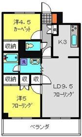 シルクハウス横浜6階Fの間取り画像