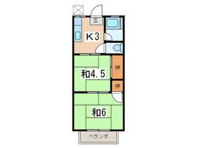 保土ヶ谷駅 徒歩26分2階Fの間取り画像