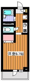 下赤塚駅 徒歩4分1階Fの間取り画像