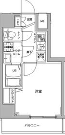 ジェノヴィア川崎駅グリーンヴェール9階Fの間取り画像