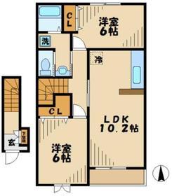 リパーリオ2階Fの間取り画像