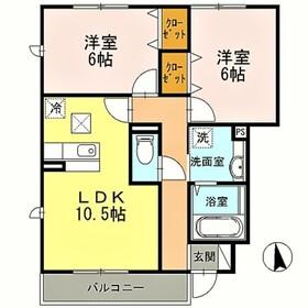 生田駅 徒歩15分1階Fの間取り画像
