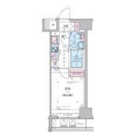 GENOVIA横浜関内SKYGARDEN9階Fの間取り画像