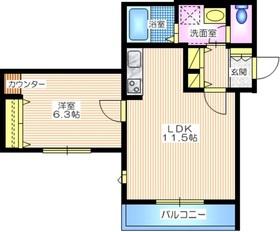 パークサイドハイム3階Fの間取り画像