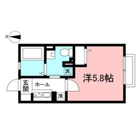 アゼリアハイム2階Fの間取り画像