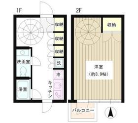 広尾駅 徒歩1分1階Fの間取り画像