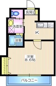 メゾン アルタ1階Fの間取り画像
