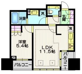 宮益坂ビルディング ザ・渋谷レジデンス11階Fの間取り画像