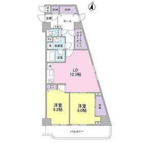 横須賀中央駅 徒歩5分11階Fの間取り画像