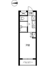 スカイコート高円寺第51階Fの間取り画像