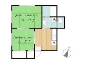 丸塚荘2階Fの間取り画像