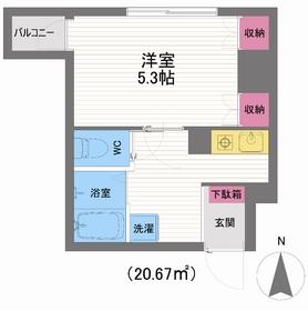 シェ・ピエール6階Fの間取り画像
