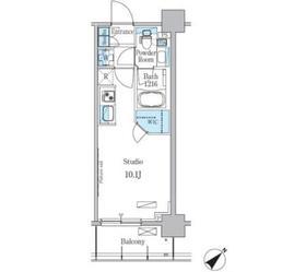 パークアクシス押上テラス8階Fの間取り画像
