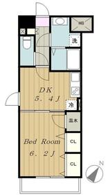 リシェス中屋4階Fの間取り画像