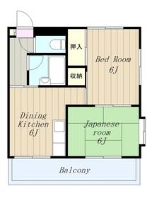 クレドボヌール5階Fの間取り画像