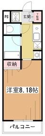 コンフォートアムール1階Fの間取り画像