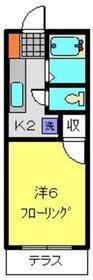 ルシエール杉田1階Fの間取り画像