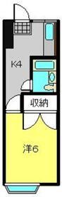 パールハイムC2階Fの間取り画像