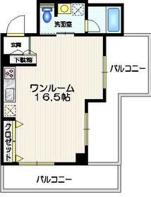イーストガーデン5階Fの間取り画像