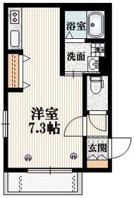 リヴェール1階Fの間取り画像