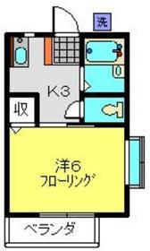 ドミールM2階Fの間取り画像