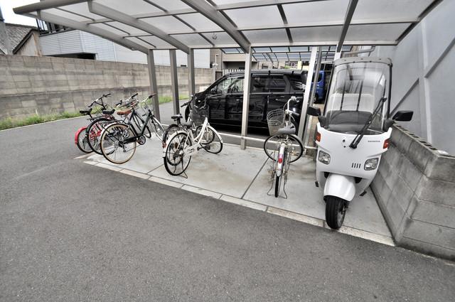 シャーメゾンアマヤハイツ あなたの大事な自転車も安心してとめることができますね。