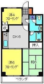 エクセルコート2階Fの間取り画像
