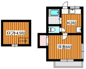 ヴィラサンコー2階Fの間取り画像