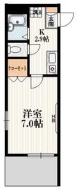 アンシャンテ新中野1階Fの間取り画像