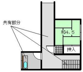 長沢荘2階Fの間取り画像