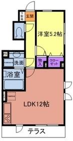 アメニティー多摩区中野島アパート1階Fの間取り画像