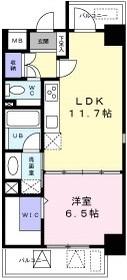 レジデンス西梅田10階Fの間取り画像