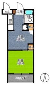 武蔵浦和宝マンション2階Fの間取り画像