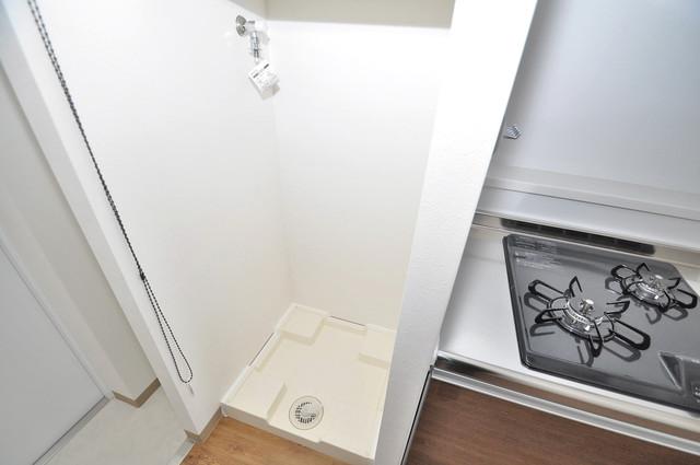 PARK HILLS 北巽 felice 嬉しい室内洗濯機置場。これで洗濯機も長持ちしますね。